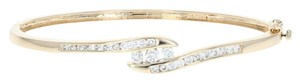 Wilson Brothers Diamond Bypass Bangle Bracelet 6 3/4