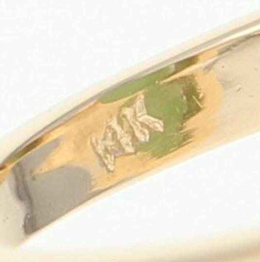 Wilson Brothers Jadeite Solitaire Bypass Ring - 14k Yellow Gold 6ct Oval Cabochon Image 4