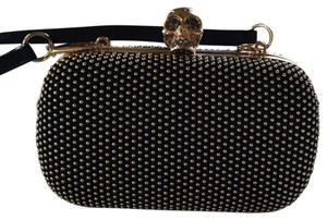 Alexander McQueen black with gold detail beading Clutch