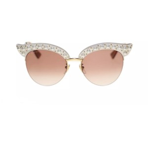 Gucci Gucci GG0212S Faux Pearl-Trim Cat Eye Sunglasses