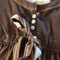 Abercrombie & Fitch Baby Doll Preppy Button Down Long Sleeve Top brown Image 5