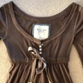Abercrombie & Fitch Baby Doll Preppy Button Down Long Sleeve Top brown Image 6