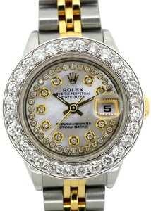 ROLEX 2.7CT 26MM Ladies Datejust GOLD S/S with Box & Appraisal Watch