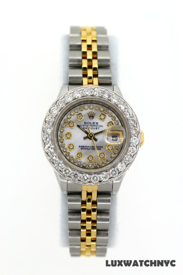 ROLEX 2.7CT 26MM Ladies Datejust GOLD S/S with Box & Appraisal Watch Image 1