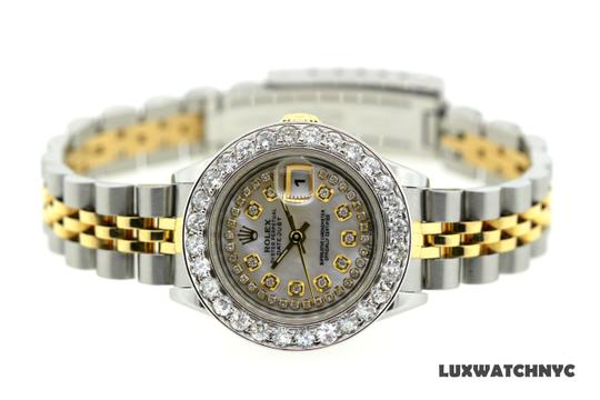 ROLEX 2.7CT 26MM Ladies Datejust GOLD S/S with Box & Appraisal Watch Image 2