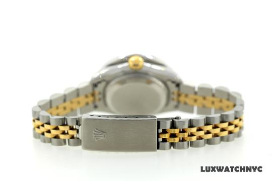 ROLEX 2.7CT 26MM Ladies Datejust GOLD S/S with Box & Appraisal Watch Image 5