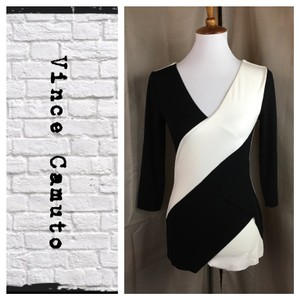 Vince Camuto Top Black/Cream