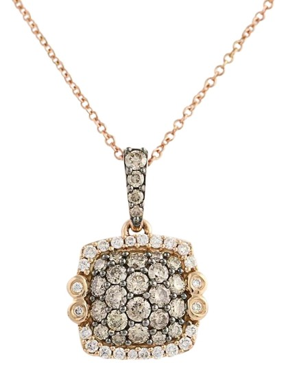 Preload https://img-static.tradesy.com/item/22682233/le-vian-new-diamond-pendant-18-14k-rose-gold-84ctw-necklace-0-1-540-540.jpg