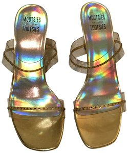Mootsies Tootsies gold/clear Formal