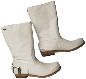 MTNG Spain Leather Zippers Off white, gray (ish) Boots