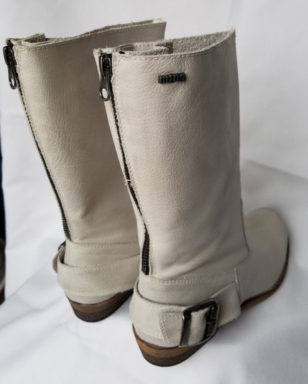 MTNG Spain Leather Off white, gray (-ish) Boots Image 1