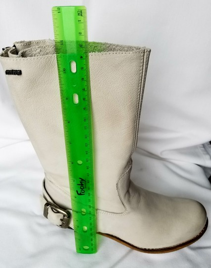 MTNG Spain Leather Off white, gray (-ish) Boots Image 4