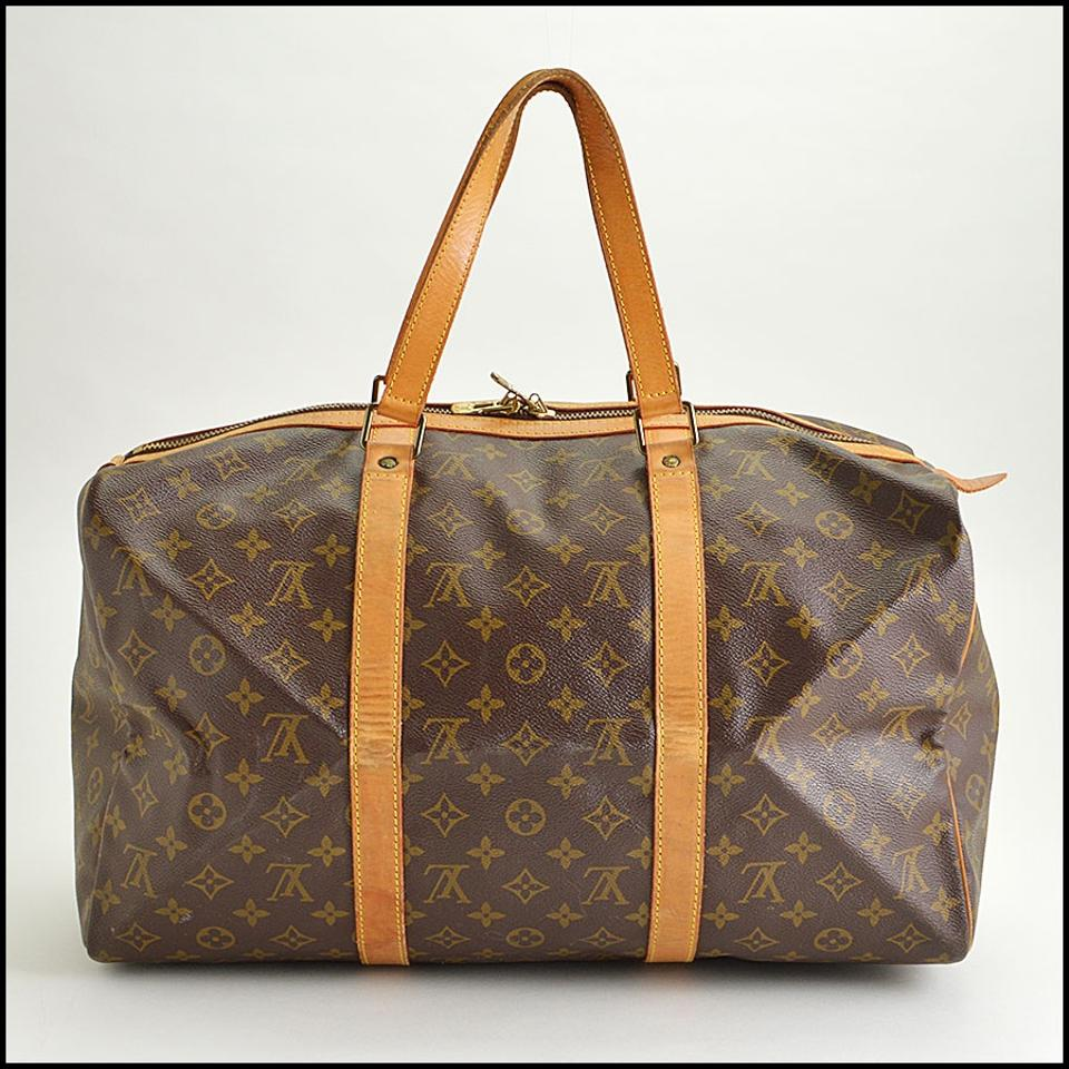 louis vuitton brown canvas weekend travel bag tradesy. Black Bedroom Furniture Sets. Home Design Ideas