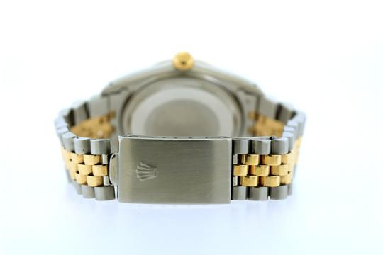 ROLEX 36mm Datejust Gold S/S Diamond with Box & Appraisal Watch Image 2