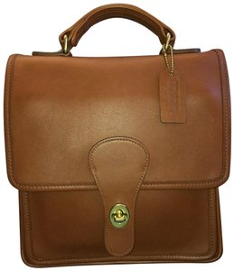 Coach Station Leather Satchel in British Tan