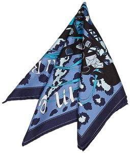 Herms Printed Silk Scarf