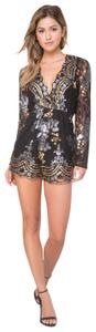 Bebe Sequin Night Out Date Night Lace Dress