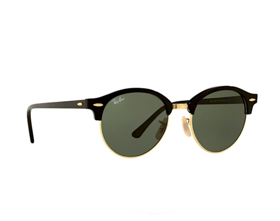 1ce3cce0d71 Ray-Ban Black - Gold Trim New Rb 4246 901 Clubround Free 3 Day Shipping  Sunglasses