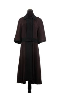 Prada 3/4 Sleeve Wool Trench Coat