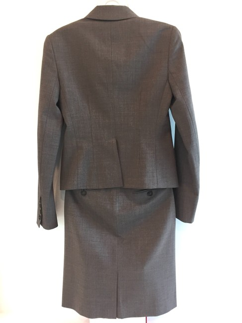 Theory Double-breasted skirt suit with ribbon detail Image 2