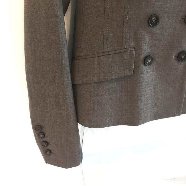 Theory Double-breasted skirt suit with ribbon detail Image 4