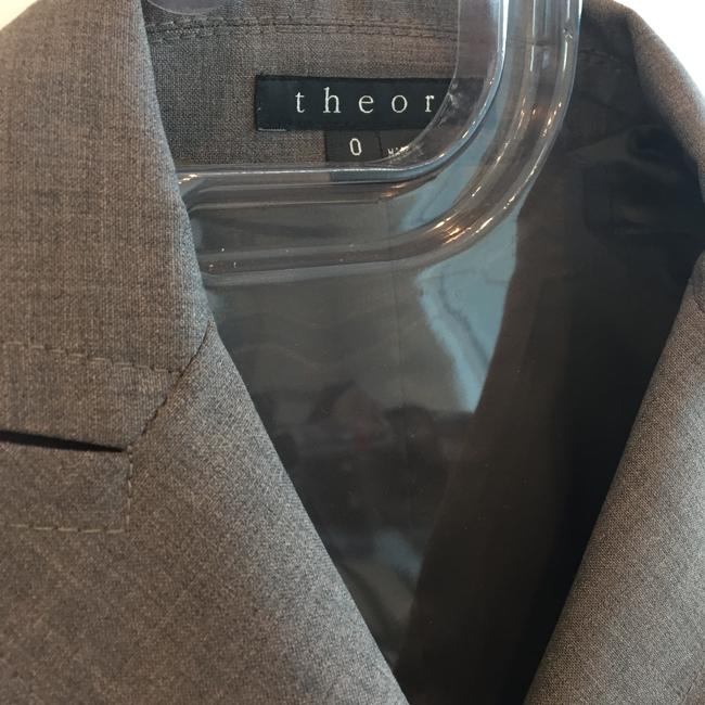 Theory Double-breasted skirt suit with ribbon detail Image 5