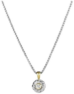 David Yurman David Yurman-Kids Birthstone (Diamond) Pendant Necklace & 18K Gold
