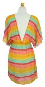 Miken Swim Multi Color Chiffon Cover-Up