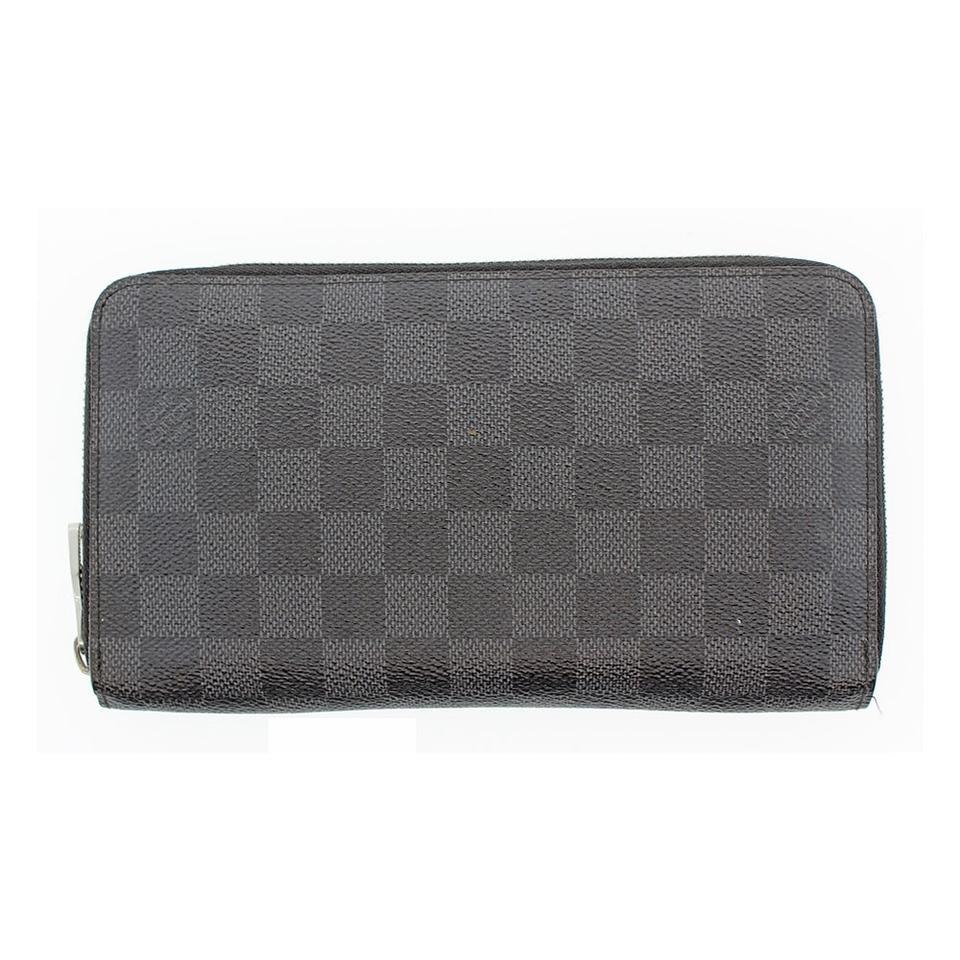 00d9d99f13b33 Louis Vuitton Authentic Louis Vuitton Damier Graphite Zippy Wallet LV  N60003 LV Image 0 ...