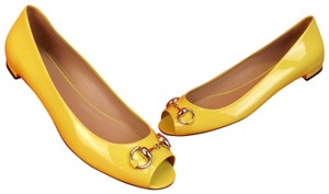 Gucci Yellow Flats