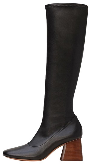 CELINE Nappa Leather Stretch Black Boots Image 0