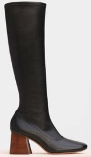 CELINE Nappa Leather Stretch Black Boots Image 1