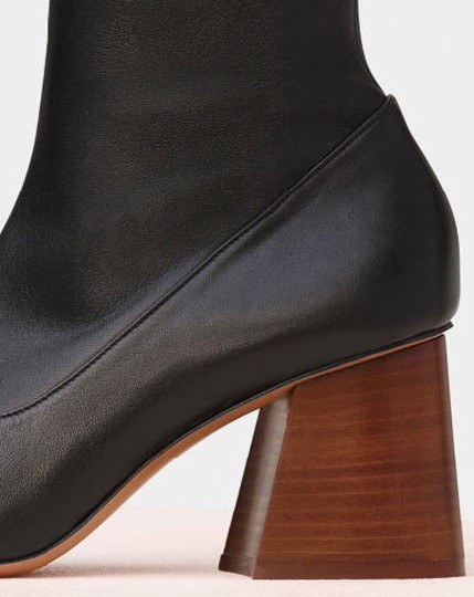 CELINE Nappa Leather Stretch Black Boots Image 2