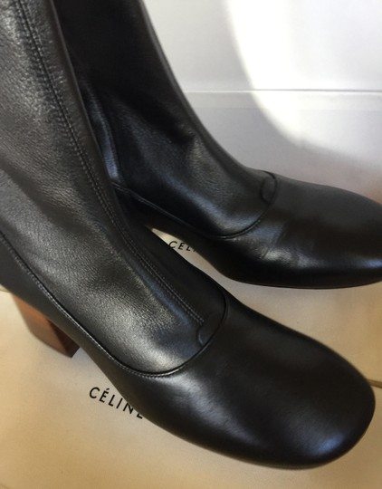 CELINE Nappa Leather Stretch Black Boots Image 4