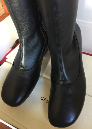 CELINE Nappa Leather Stretch Black Boots Image 5