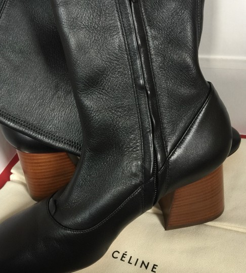 CELINE Nappa Leather Stretch Black Boots Image 8