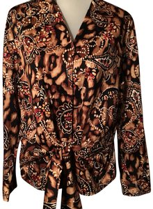 Jones New York Button Down Shirt Multi colored pattern