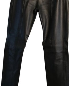 North Beach Leather Straight Pants black