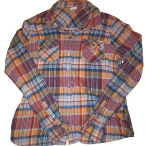 Mossimo Supply Co. Button Down Shirt blue and orange