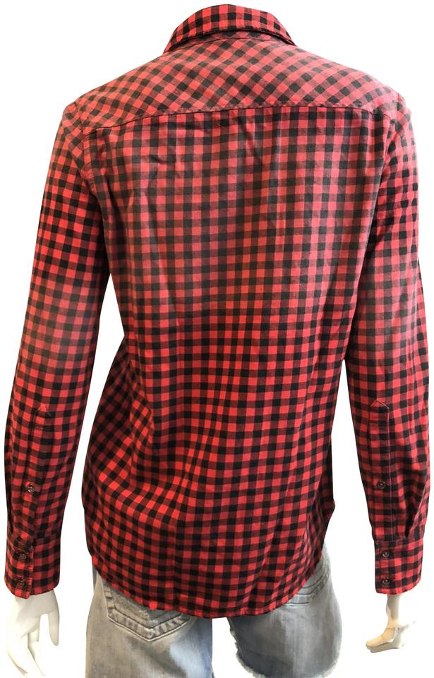 5db8b142261 6XL Red and Black Plaid Shirt Men Summer Mens Short Sleeve Dress Shirts  Casual Striped Slim Fit Button Down Shirts for Men-in Casual Shirts from  Men s …