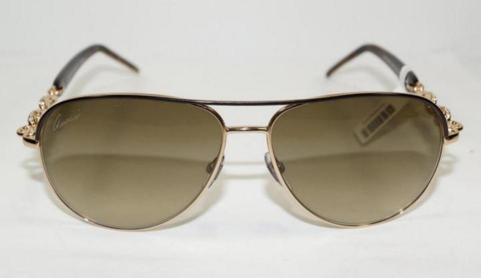 5727d723849 Gucci Chain Link Aviator Sunglasses With Crystals Replica