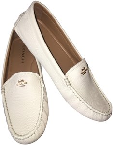 Coach Loafer Penny Loafer Leather Pebbled Leather White Flats