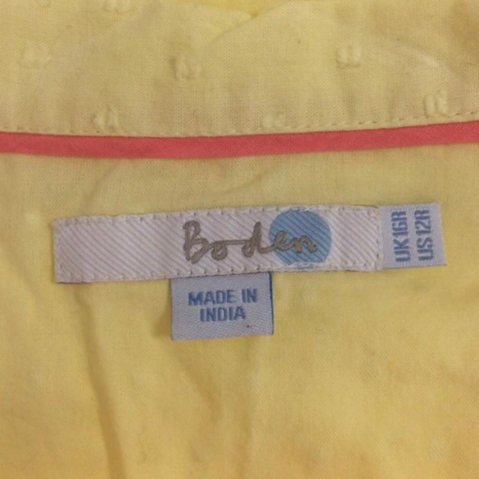 Boden yellow blouse size 12 l tradesy for Boden yellow