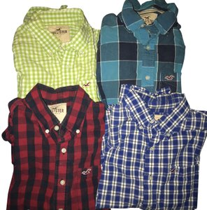 Hollister Button Down Shirt Multi
