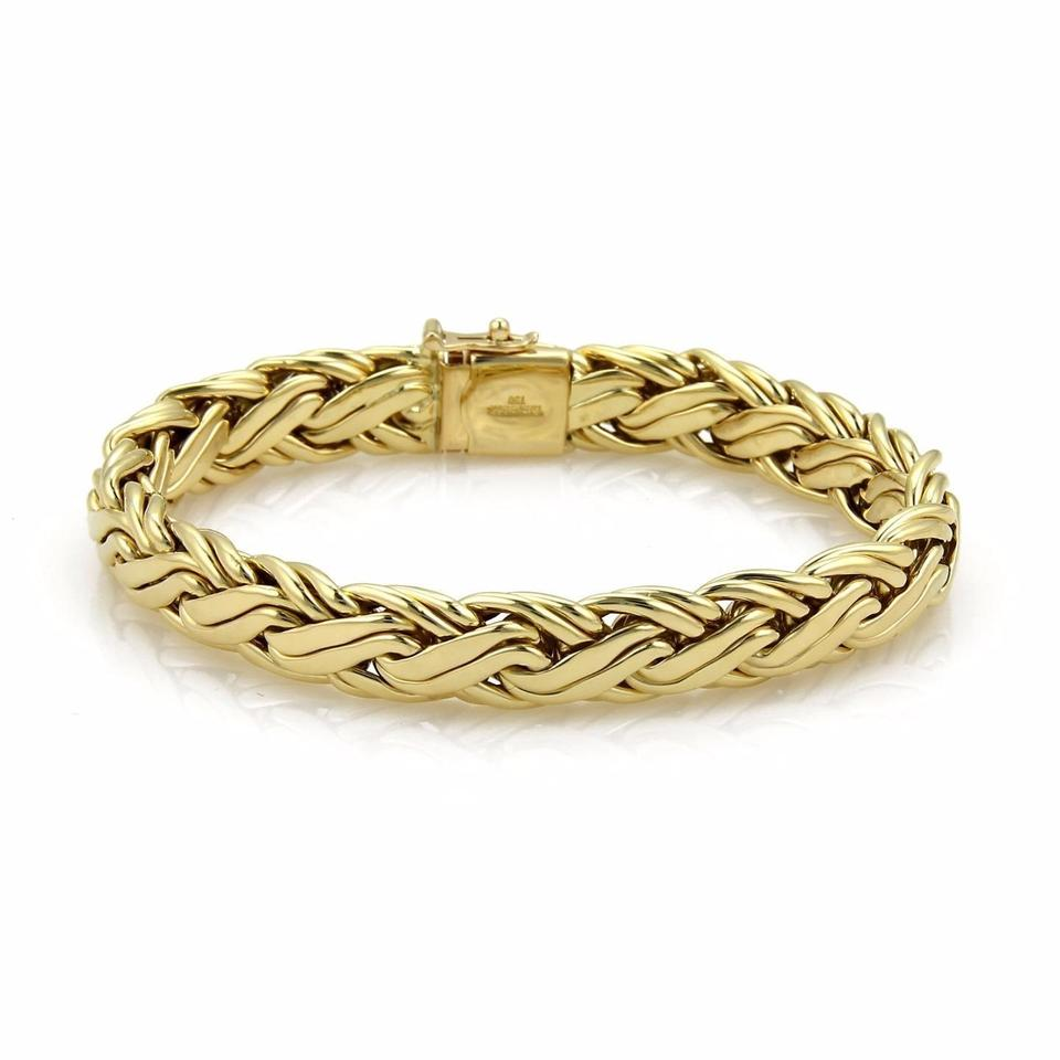 hallmarked womens length women gold infinity ounce inch jewellery stylish yellow bracelet s solid design fine ladies