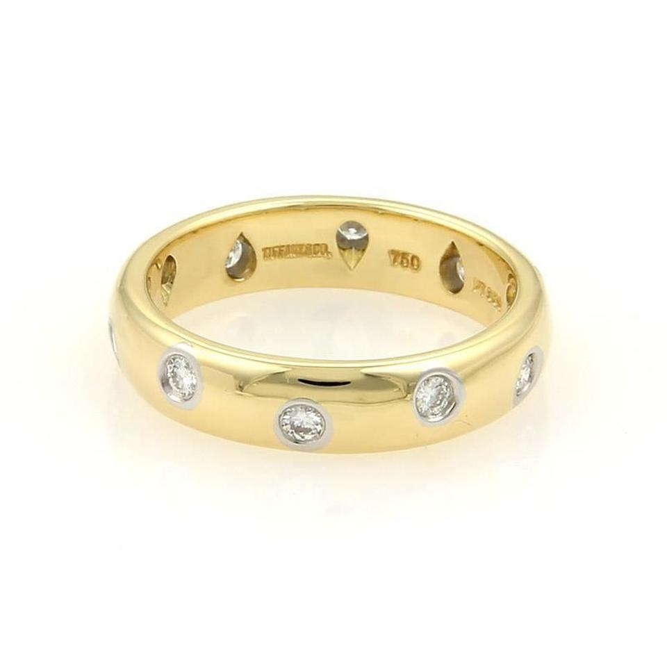 band bands rose rings wedding gold diamond