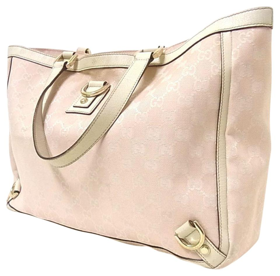 b5b977408f5 Gucci Extra Size Satchel Or Multi-compartment Tote in pink large G logo  print canvas ...