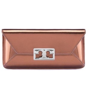 Tory Burch Evening Night Out Chic Metallic Leather Mika Clutch