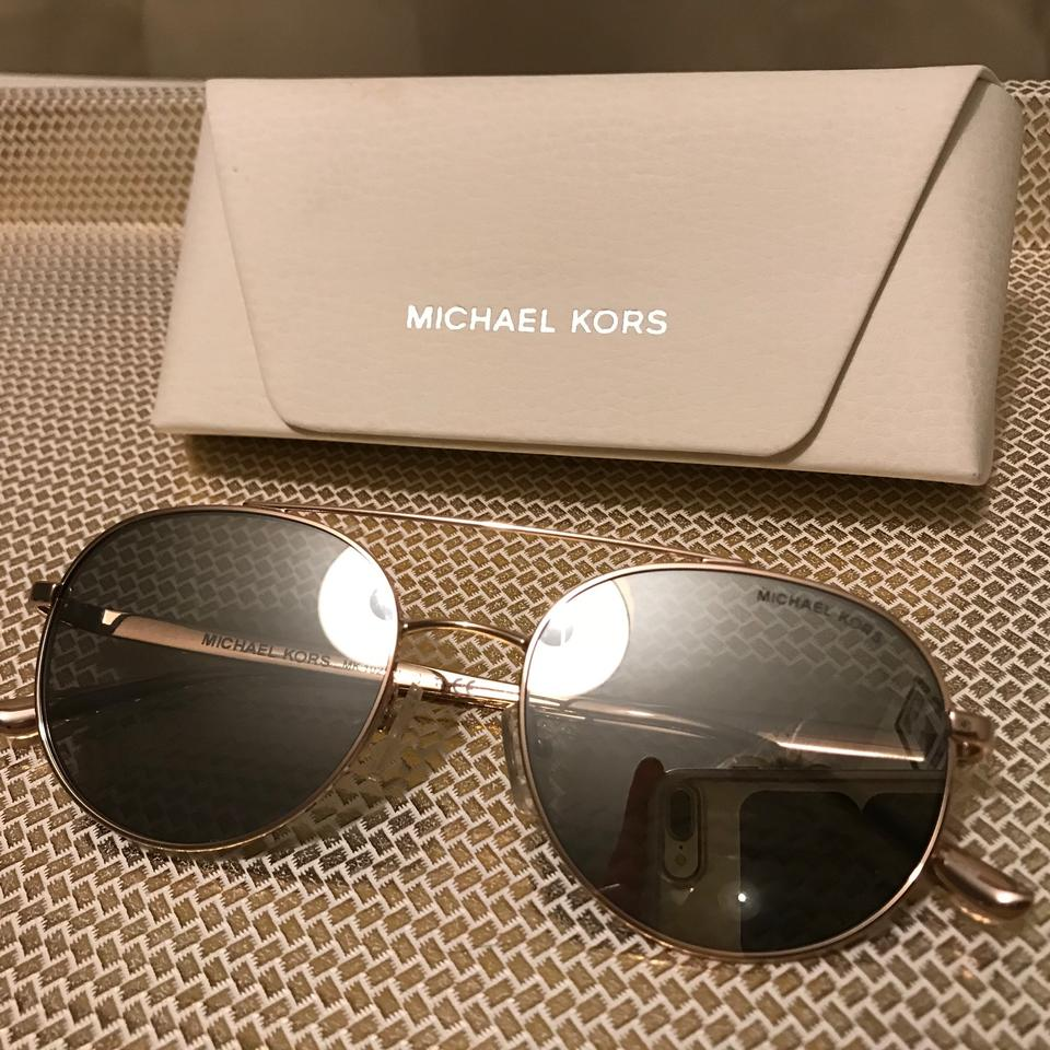 2a2e03d4ad Michael Kors Mk Lon Rounded Aviator Silver with Rosegold Hardware ...