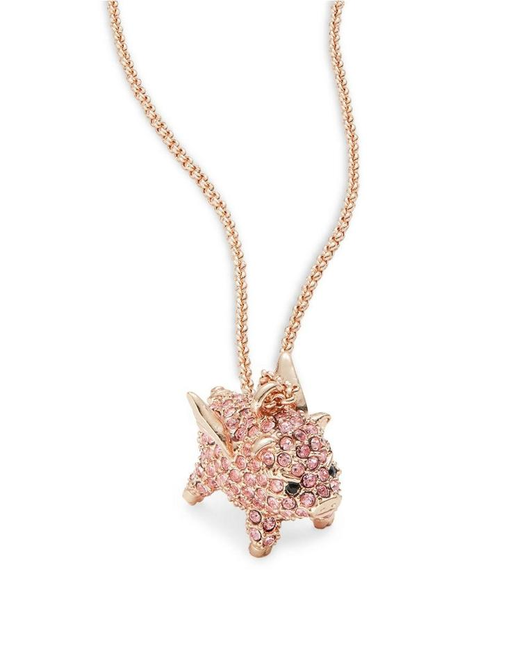 Kate spade pink imagination pave pig fly mini pendant necklace tradesy kate spade brand new kate spade imagination pave pig fly mini pendant necklace mozeypictures Gallery